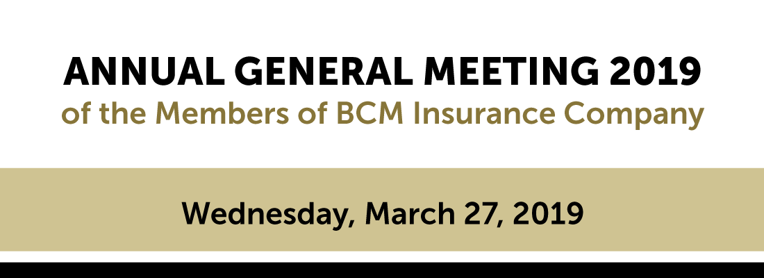 BCM Insurance Company Annual General Meeting 2019